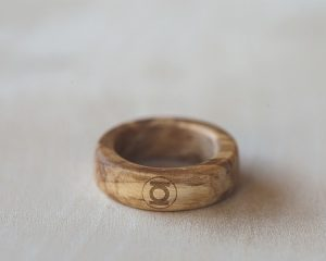 Wood Rings Laser Engraved With Super Hero Logos