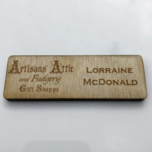 Wood Name Tag