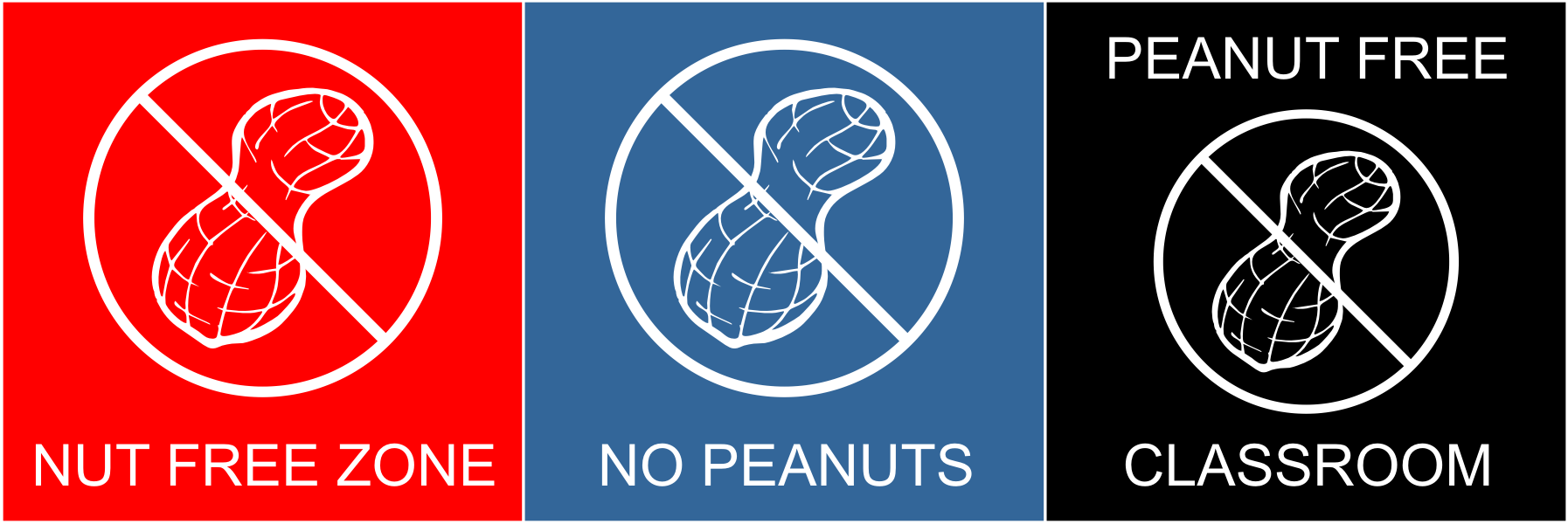 Allergy Sign, Nut Signs, Nut Free, No Peanuts
