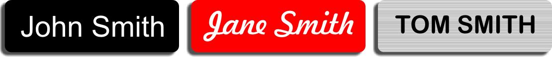Single Line Engraved Name Tag